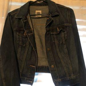 Cropped old navy jean jacket